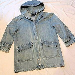 Vntg. KAOS oversized heavyweight  denim coat